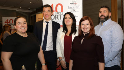 Martina Connolly pictured with 40underforty finalists