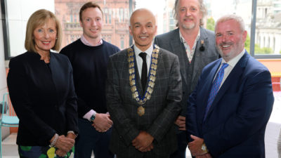 Belfast Chamber President Rajesh Rana with the Senior Council