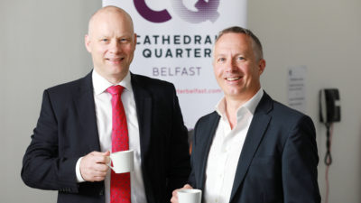 Richard Ramsey, Ulster Bank and Richard McMullan, Aurelius Advisory at Belfast Chamber event