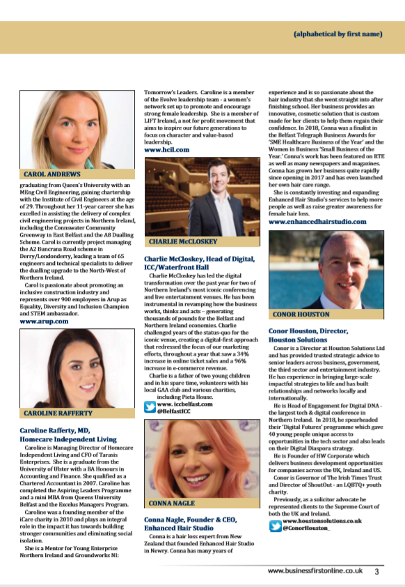 40 under Forty lunch - Belfast Chamber