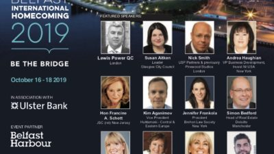 sixth annual Belfast International Homecoming conference in the Belfast Harbour Commission offices on 18 October 2019.