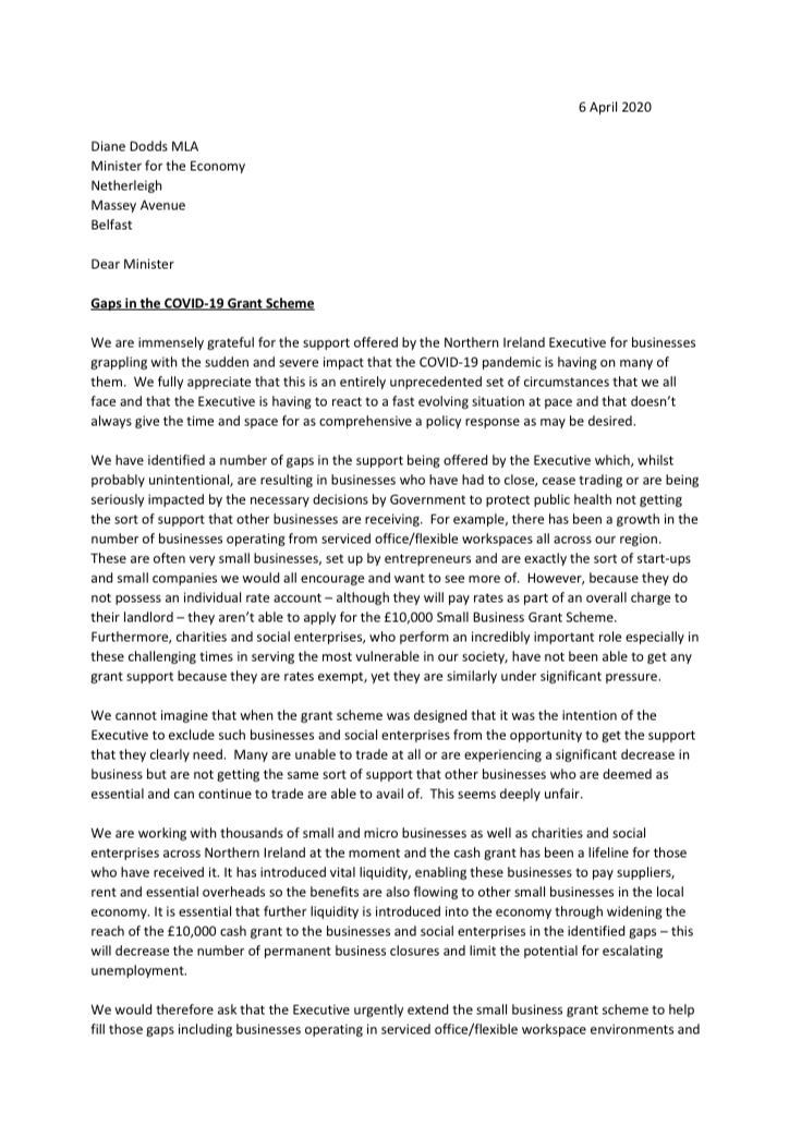Letter Diane Dodds