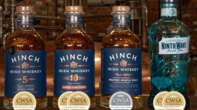 Hinch Distillery Whiskey & Ninth Wave Gin CWSA Winners 2020