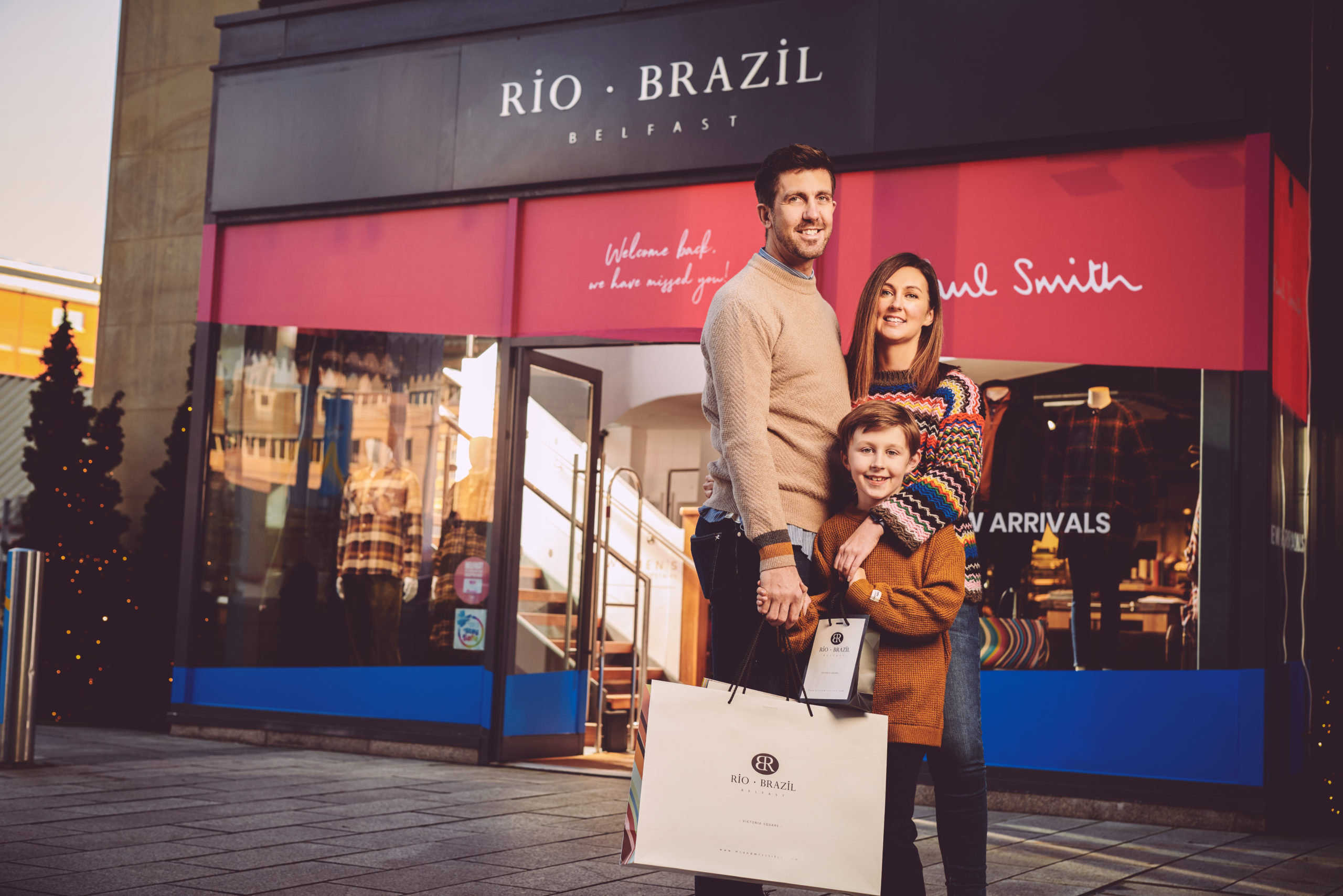 Rio Brazil. One of Belfast's longest running independent fashion boutiques relocated to Victoria Square in October 2017. Located within a large and bright two storey unit opposite the Kitchen Bar and beside Ground coffee shop. Rio and Brazil provide a personal service delivered by experienced and knowledgeable staff. There is an individual collection of both men's and women's clothing brands which are not represented else where within Victoria Square. Some of these unique brands include; Paul Smith, Jacob Cohen, Scotch and Soda, Napapijri, R M Williams, Grenson, Jeffery West Mainline, Woolrich, Rossignol, Colmar, Parajumpers, Kent and Curwen, Eton, High, 2nd Day, Mackage and Pairs in Paris.