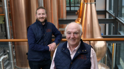 Aaron Flaherty & Dr Terry Cross OBE, Hinch Distillery