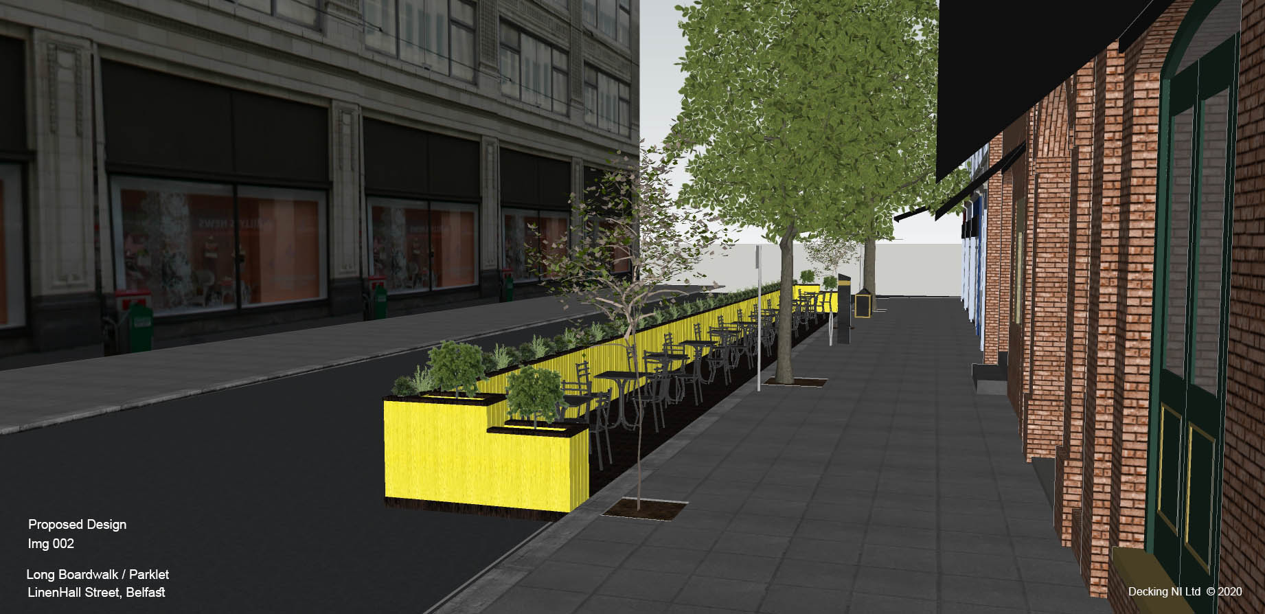 img 002 proposal    Long Boardwalk Parket, LinenHall Street, Belfast